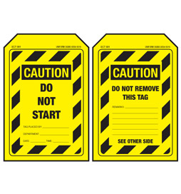 Economy Caution Tag - Do Not Start - ECT001