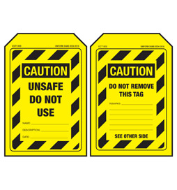 Economy Caution Tag - Unsafe Do Not Use - ECT003