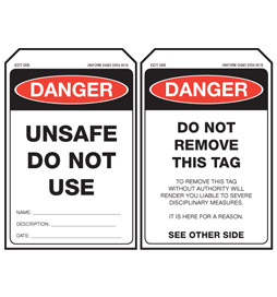 EDT006-Stock-Stock-Card-Tags-Economy-Danger-Tag-Unsafe-do-not-use-Tag