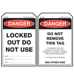 Economy Danger Tag - Locked Out Do Not Use - EDT008