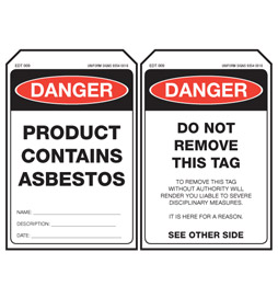 EDT009-Stock-Stock-Card-Tags-Economy-Danger-Product-Contains-Asbestos-Tag