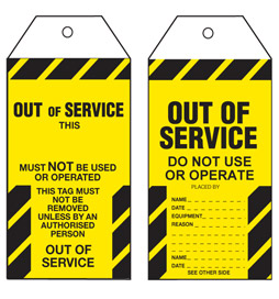 Out of Service Tag - STA004