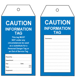 Caution Information Tag - STA005