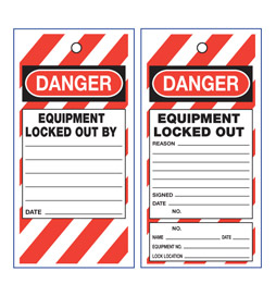 Lockout Danger Tag - STA008
