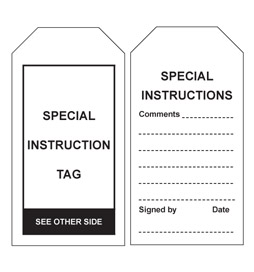 Special Instructions Tag - STA017