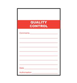 Quality Control Tag - STA102