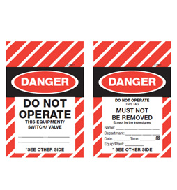 Tamper Proof Danger Tag - Do Not Operate - STA011