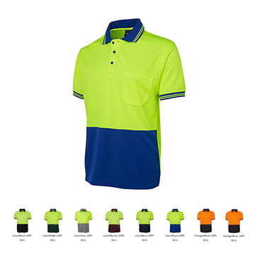 Work Wear - Hi Vis Traditional Polo