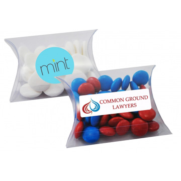 Promotional Lollies - Clear Pillow Box