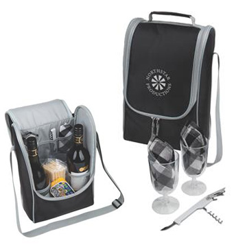 Promotional Picnic Products - B7000 Utah 2 Bottle Cooler Set